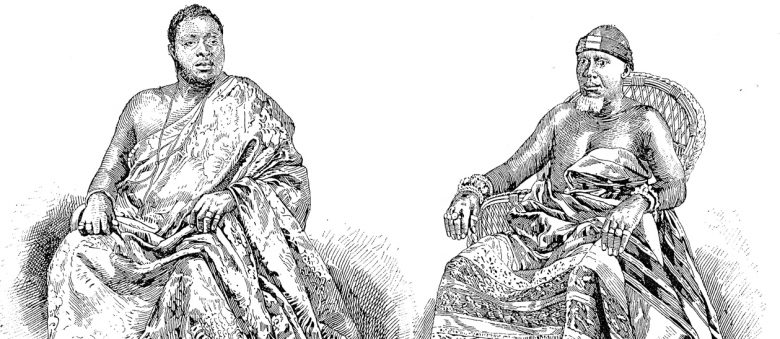 Illustration of two Ashanti chiefs sitting.