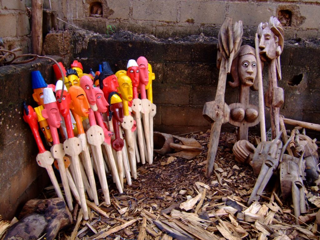 Puppets of Malian blacksmith and puppeteer, Yaya Coulibaly