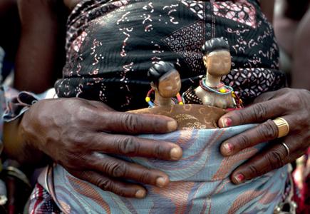 Culte Vaudou des jumeaux au Bénin, photographie par Catherine & Bernard Desjeux