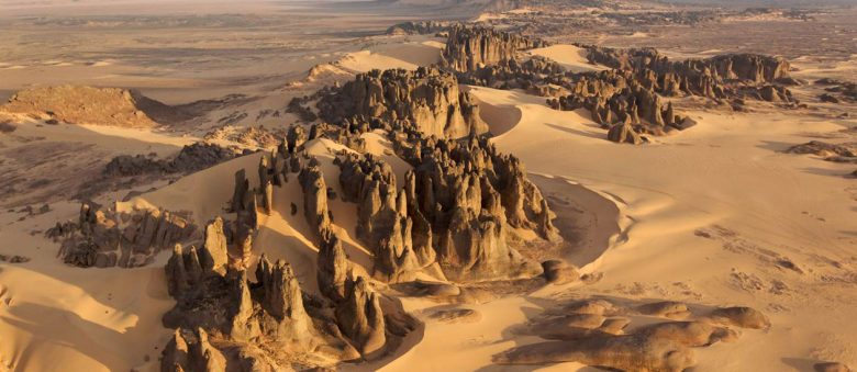 Tassili Du Hoggar, Ahaggar mountains, in the Sahara of Algeria.