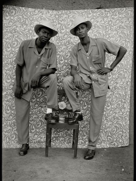 """West African Double Portraiture or """"Twin Images"""": Seydou Keita. Two men posing as if they were twins."""