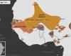 Carte de l'Afrique de l'Ouest vers 1520 apr. J.-C., qui montre l'empire du Mali, l'empire Djolof, le royaume de Denianké, l'empire Songhaï, les royaumes Mossis, l'empire de Kanem-Bornou, les Royaumes Haoussas (Kano, Rano, Gobir, Katsina, Daura, Biram, Zazzau, Zamfara, Kwararafa ou Jukun), le royaume de Bénin, le royaume d'Oyo, et ceux d'Igala, de Nri et du Borgou.