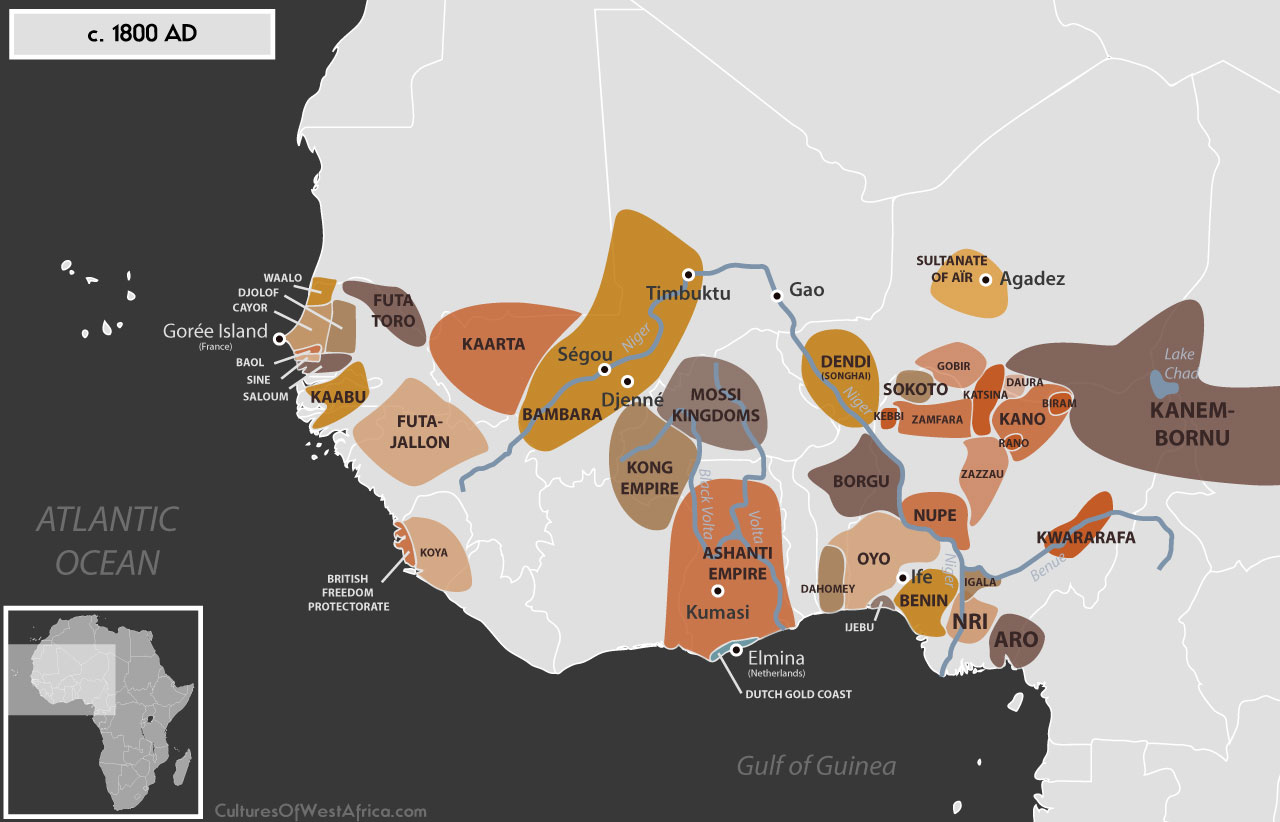 Map Of Africa 1800.Maps Cultures Of West Africa