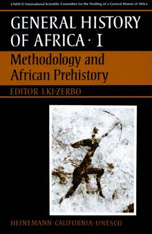 Cover of the first volume in the 'General History of Africa' encyclopedia by UNESCO, featuring rock art.