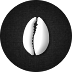 Cultures of West Africa cowrie shell logo