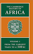 Cover of the first volume of the encyclopedia 'The Cambridge History of Africa'